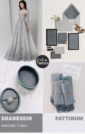 Pantone Sharkskin Wedding Colour Theme { Pantone Color Fall 2016 } fabmood.com