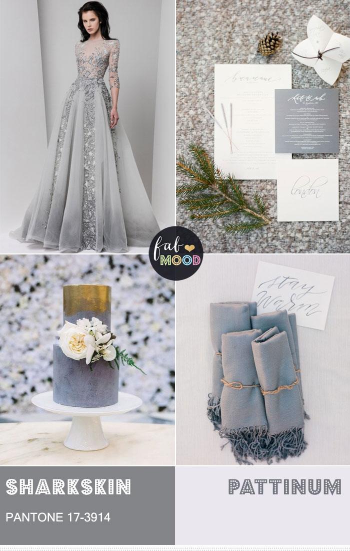 Pantone Sharkskin Wedding Colour Theme { Pantone Color Fall 2016 } fabmood.com