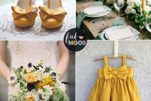 Pantone spicy mustard wedding colour theme   fabmood.com