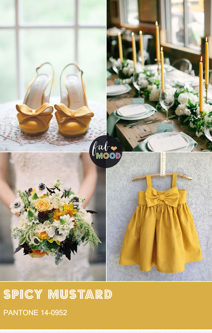 Pantone spicy mustard wedding colour theme | fabmood.com