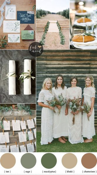 Rustic organic wedding colour palette { Muted Earth Tones } fabmood.com