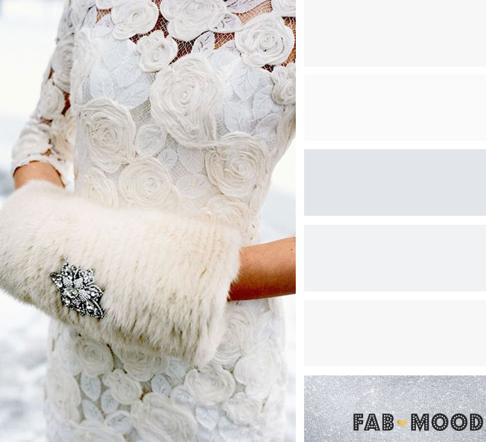 Silver and White winter wedding color palette | fab mood