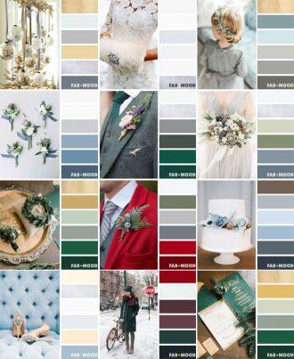 12 Winter wedding color palettes   fab mood