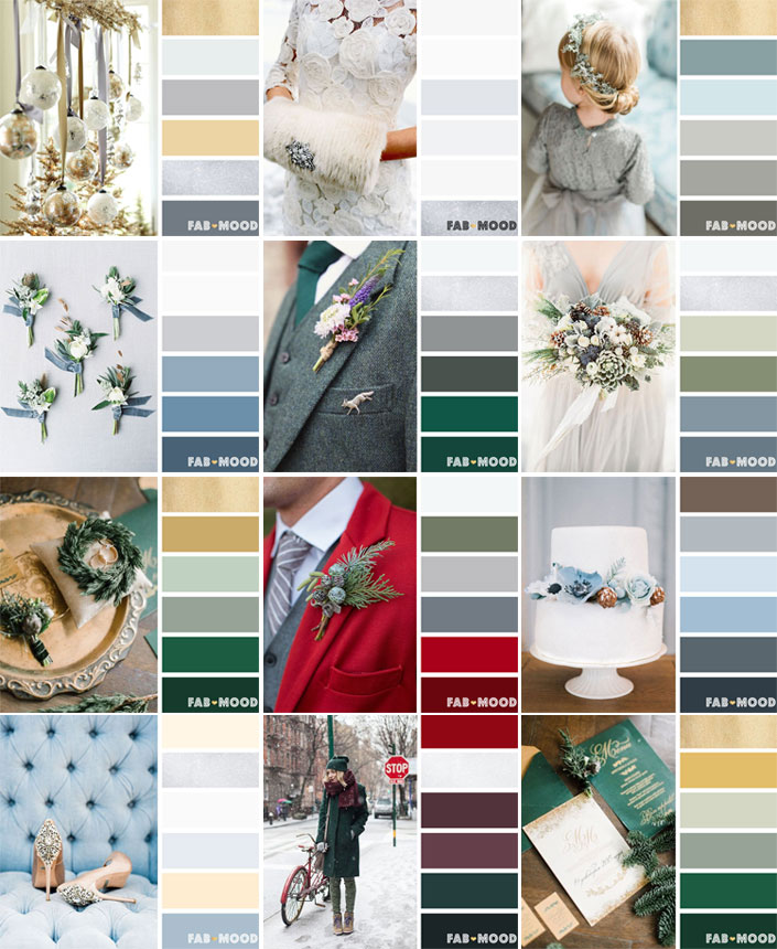 12 Winter wedding color palettes | fab mood
