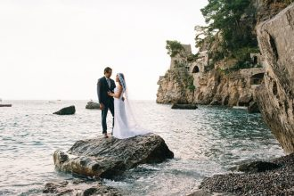 Breathtakingly Romantic + Beautiful Positano Elopement and Her Alfred Angelo Wedding Dress | Rochelle Cheever Photography | Fab Mood