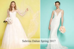 Sabrina Dahan Wedding Dress Spring 2017 #weddingdress #weddingdresses #bridal