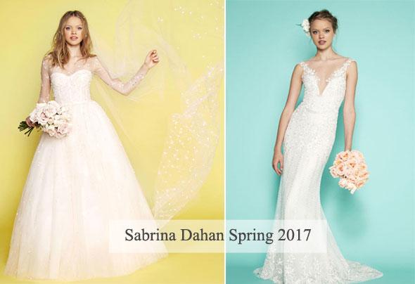 Sabrina Dahan Wedding Dresses Spring 2017 Ethereal and Playful