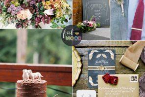 A Stylish Rustic Autumn Wedding Theme In Shades of Autumn Colours | FabMood #weddingtheme #fallwedding