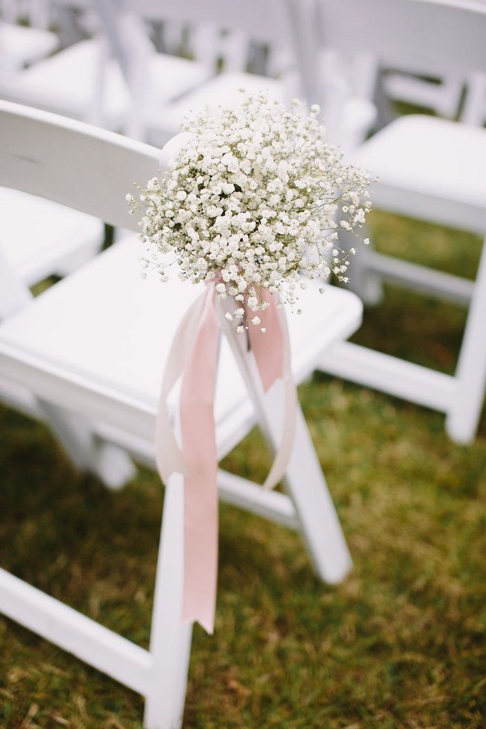 Wedding Ceremony Aisle Decorations Fabmood Babybreath