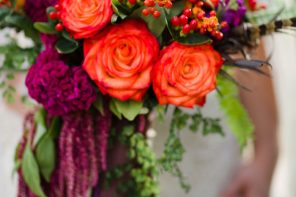 Hypericum Berry Wedding Bouquet - fall wedding | fabmood.com #fallwedding
