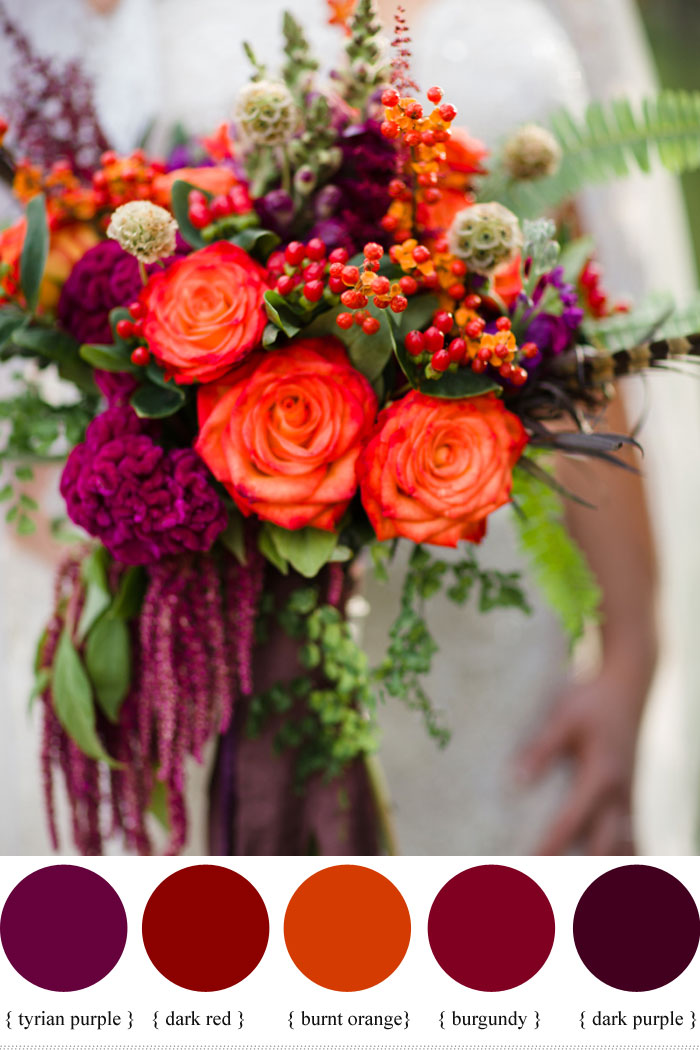 Fall Wedding Bouquets.Hypericum Berry Wedding Flowers For Autumn Wedding