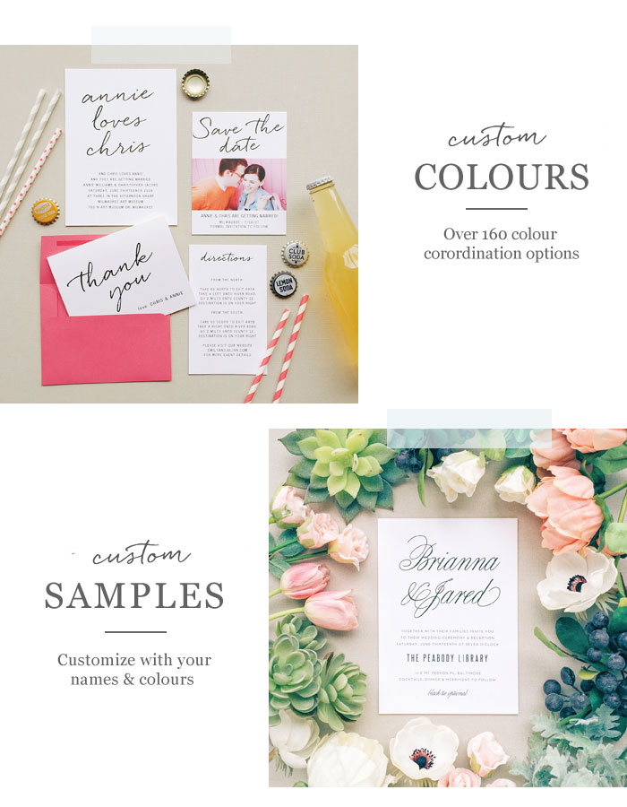 Wedding Invitations for every season from Basic Invite | Fab Mood #wedding #invitations