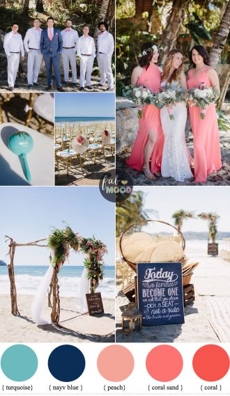 Coral Navy Blue and Turquoise For A Tropical Beach Wedding | FabMood #beachwedding #coralwedding