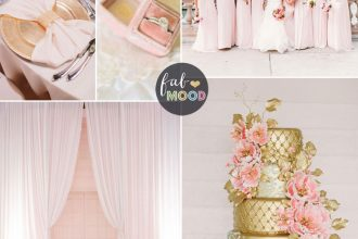 Glamorous Ballroom Wedding { Shades of Blush pink and Gold Wedding Colour Theme } Fab Mood #blushpink #theme