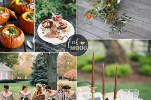 Warm Autumn Color Palette in warm spicy tones + green grey | Fab Mood #autumnwedding #spicytones