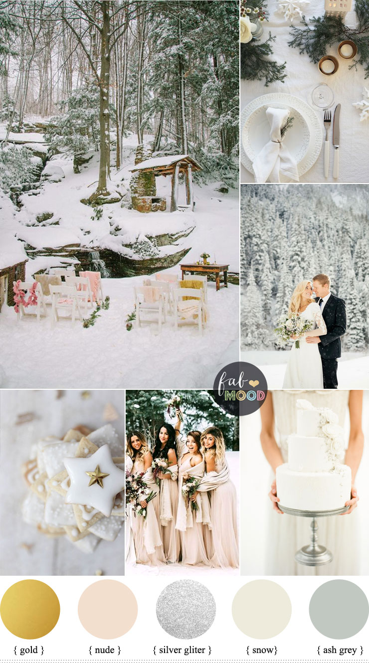 Magical winter wedding theme wedding in snow snow for All white wedding theme pictures
