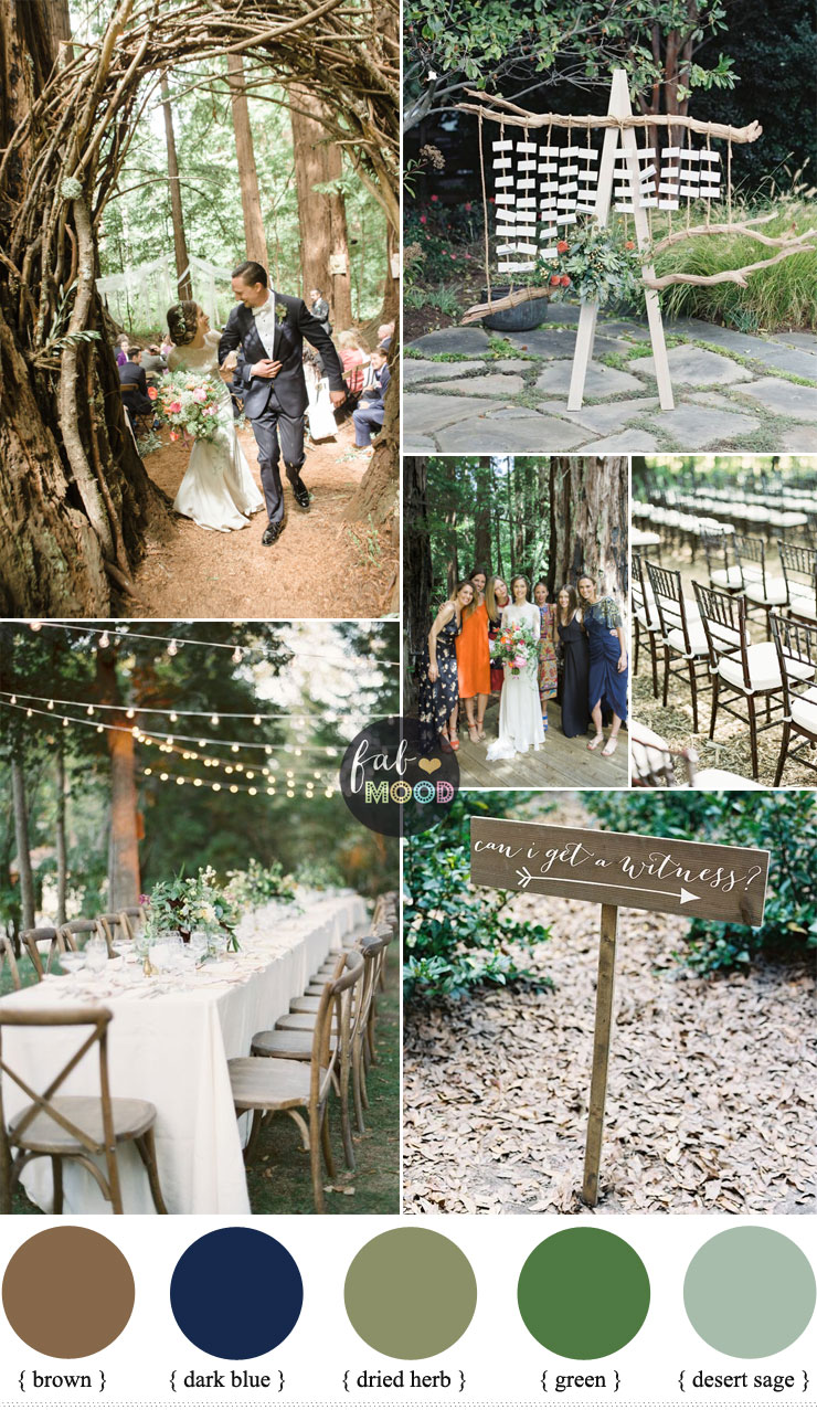 Wedding Style for casual brides and grooms | Forest wedding | fabmood.com