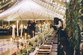Romantic wedding reception | Elegant Fall Backyard Wedding | fabmood.com #wedding #weddingreception