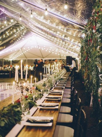 Romantic wedding reception | Elegant Fall Backyard Wedding | fabmood.com #wedding #weddingreception