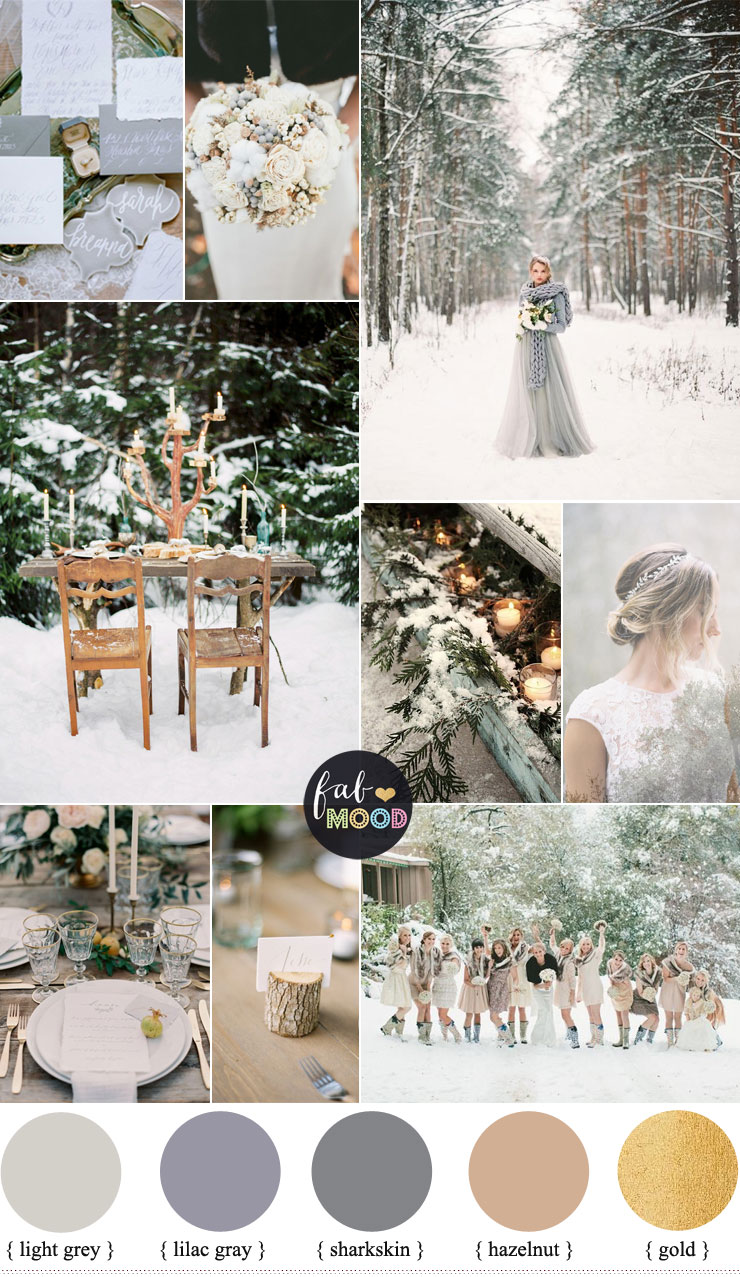 December Wedding Colours Shades Neutral on glamorous home decor