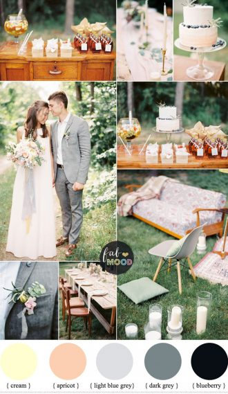 Shades of grey ,apricot and cream wedding colours for an intimate wedding   fabmood.com #wedding #weddingideas #intimatewedding #intimate #apricotwedding #cream #apricot