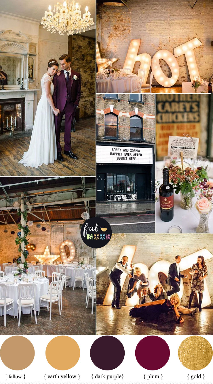 1920s Wedding Theme { Gold and Plum wedding colours } fabmood.com #wedding #1920s #weddingtheme #weddingcolor #vintagewedding #plum #plumwedding #engaged #bride