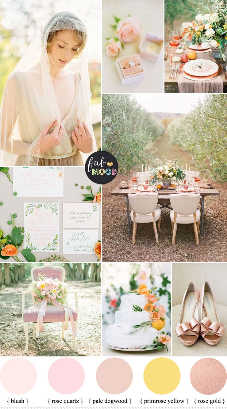 Spring Pastel Colours For An English Garden Tea Party { Pale Dogwood + Primrose Yellow + Rose Gold } fabmood.com #weddingcolour #springwedding #pastelwedding #pastel