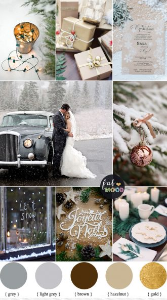 Winter Holiday Wedding in shades of neutral | fabmood.com #wedding #winterwedding #neutral #winterholiday #holidaywedding #snow