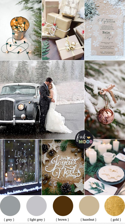 Winter Holiday Wedding in shades of neutral | fabmood.com #wedding #winterwedding #neutral #winterholiday #holidaywedding #snow