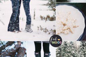 Winter picnic Engagement in shades of grey | fabmood.com #winterwedding #engagement #weddingtheme #engaged #snow