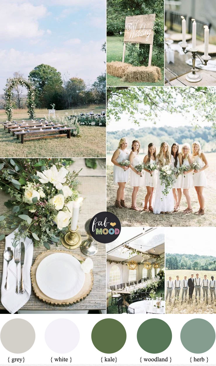 Rustic Wedding Theme for a country wedding in shades of natural green