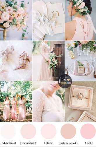 Blush pink wedding theme { 37 Pretty blush pink color combinations } fabmood.com #weddingcolour #pinkwedding #blush #blushwedding #weddingcolor #springwedding