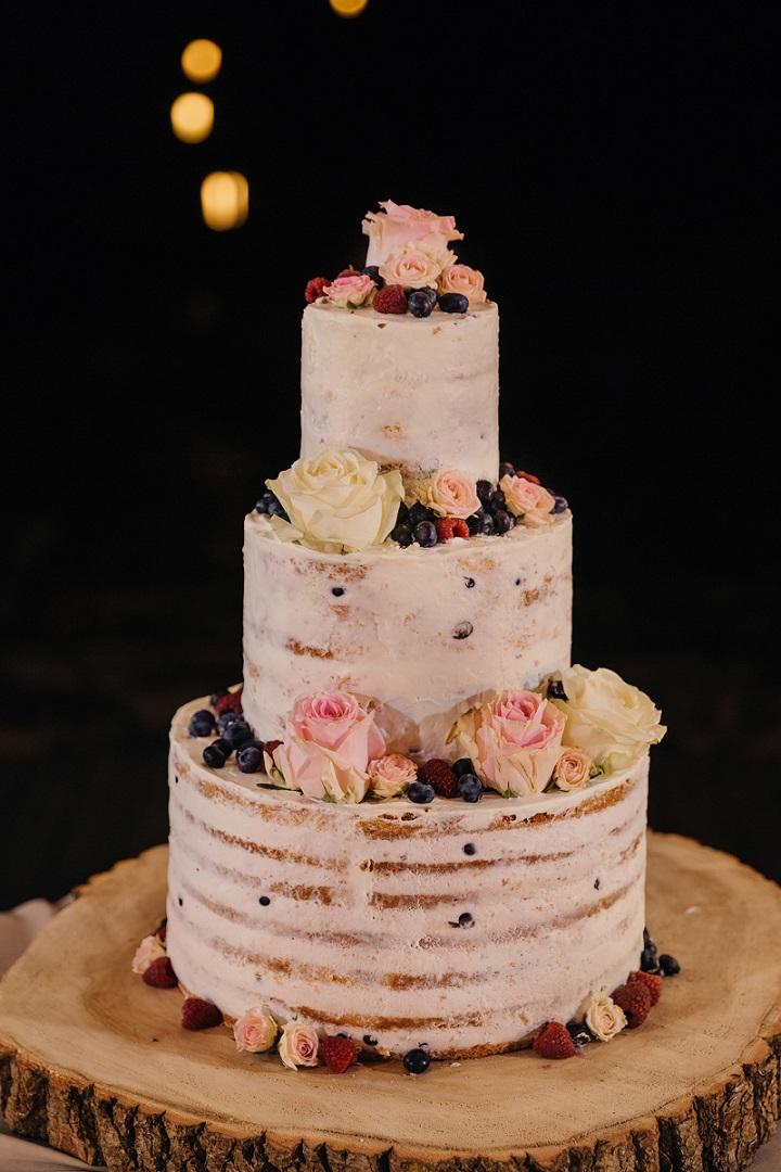 Semi Naked Wedding Cake For A Rustic Boho Wedding Fabmood