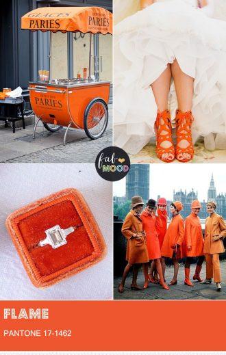 Pantone Flame Spring 2017 | fabmood.com #flame #pantone #pantoneflame #pantonepalette #pantonewedding #flameorange #weddingcolors