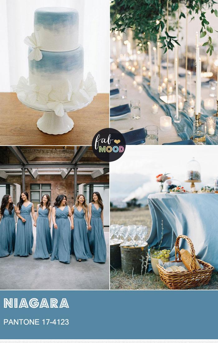 Pantone Niagara Spring 2017 | fabmood.com #niagara #pantoneniagara #pantone #pantone2017 #bluewedding