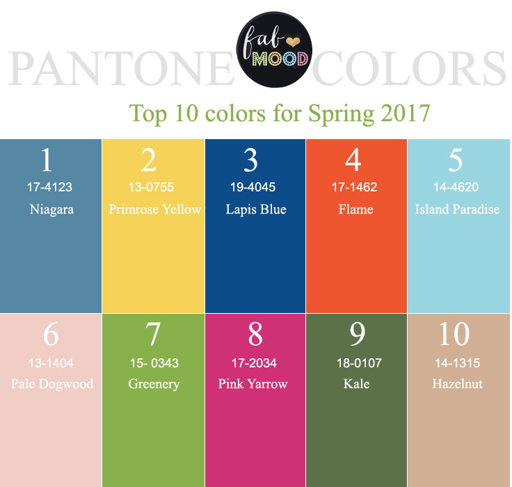 Pantone 2016: 25 Color Palettes Inspired By The Pantone Fall 2017 Color