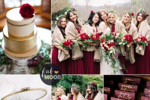Aubergine and burgundy for Rustic Elegant Winter Wedding Inspiration Board | fabmood.com #winterwedding #weddingcolors #auberginewedding #burgundywedding #weddingtheme #rusticwedding