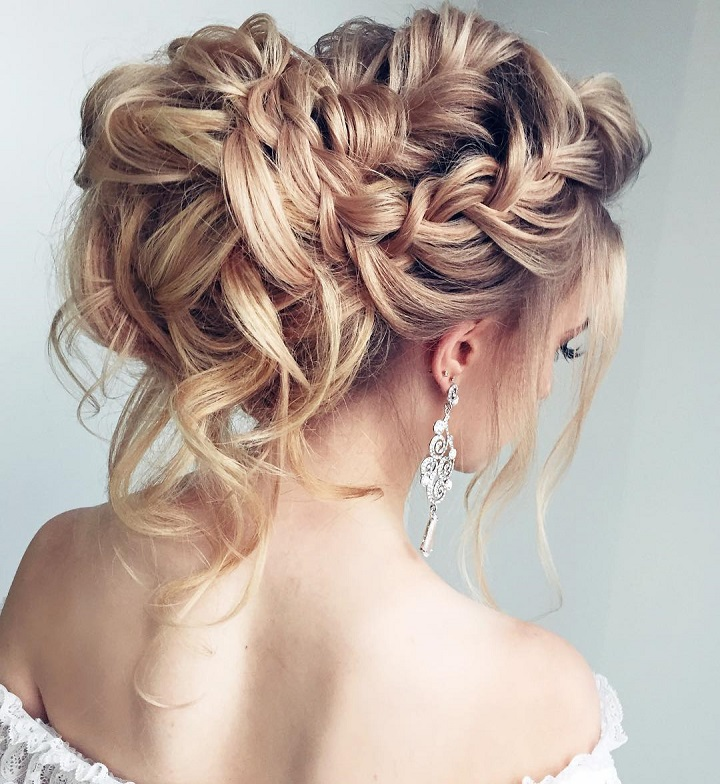 Beautiful Braided wedding hairstyle for long hair | Wedding Hairstyle