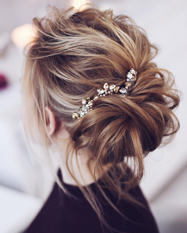 Beautiful Messy Bridal Hair Updos Wedding Hairstyle Down