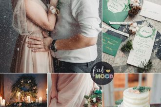 Emerald green a perfect choice for your cozy winter wedding colour palette | fabmood.com #winterwedding #emerald #natural #winterwedding