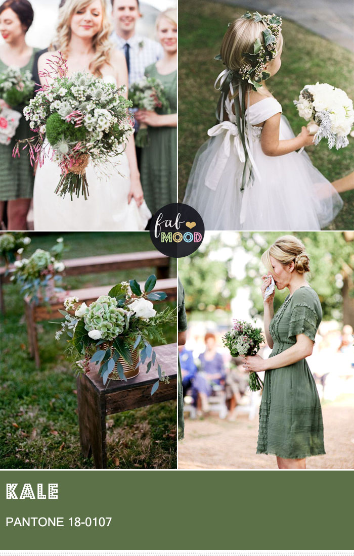 Pantone Kale 18-0107 { Pantone Colors for Spring 2017 } fabmood.com #weddingcolor #weddingcolours #weddingtheme #summerwedding #greenwedding #kale #kalewedding