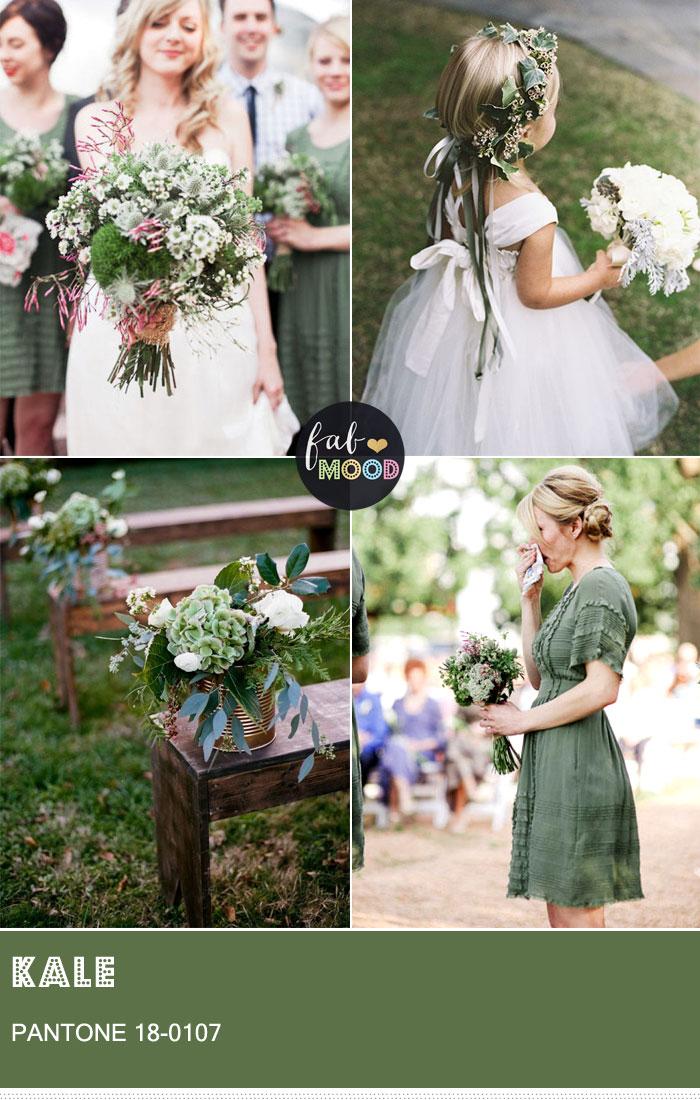 Pantone Kale 18-0107 { Pantone Colors for Spring 2017 } fabmood.com #weddingcolor #weddingcolours #weddingtheme #summerwedding #greenwedding #kale #kalewedding