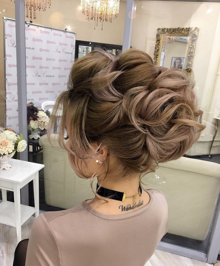 Bridal Updo Hairstyle #wedding #updo #hairstyles weddinghairstyle #weddinghair
