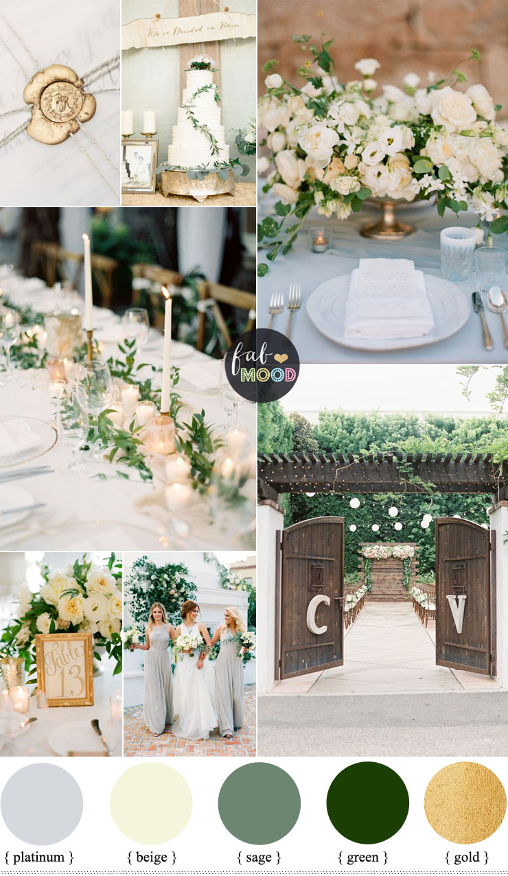Gold and Green Wedding Colours Perfect For An Elegant,Fresh, Natural Wedding Palette | fabmood.com #wedding #weddingcolor #springwedding #naturalwedding #elegantwedding