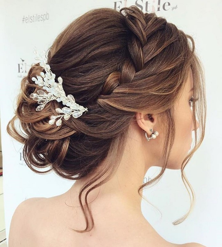 Braided Updos Wedding hairstyle | fabmood.com #weddinghair #updobraid #updos #hairstyles #weddinghairs #weddingupdos