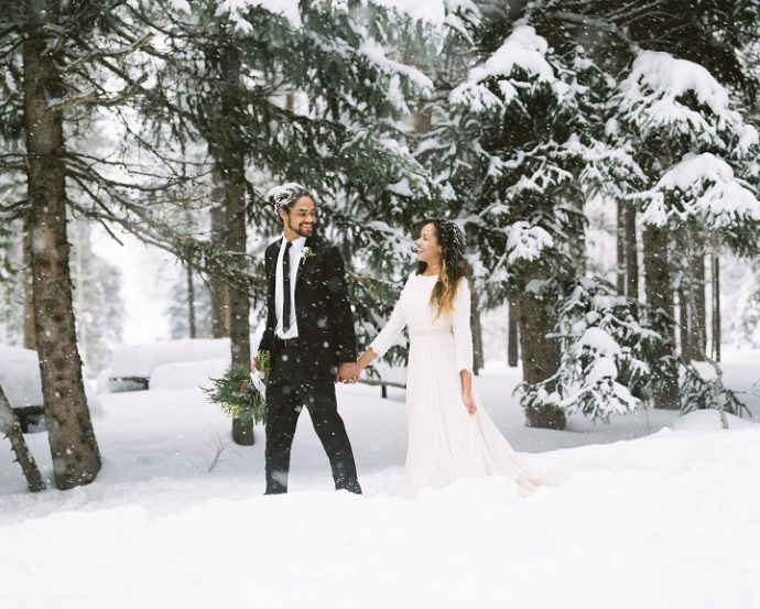 Utah winter wedding