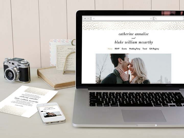 Minted-wedding-website