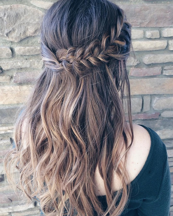 Half Up Half Down Braided Wedding Hairstyles: Beautiful Braid Half Up And Half Down Hairstyle For