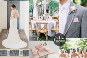 Elegant blush pink and soft gray | fabmood.com #weddingcolor #blush #graywedding #elegant #bride #weddinginspiration