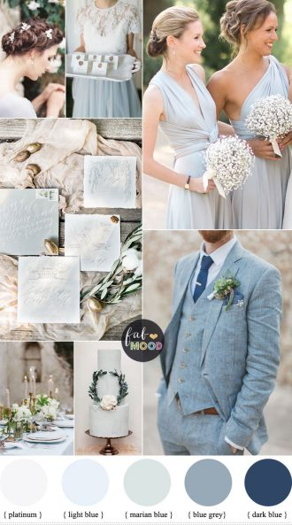Light Blue Grey Wedding colours | fabmood.com #weddingcolor #weddingtheme #bluegrey #weddinginspiration